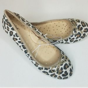 Leopard Print Ballet Flats Youth size 5